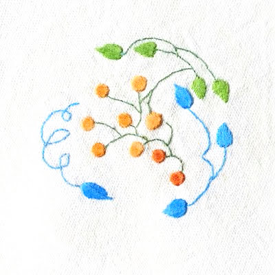 Patricia Van Ness Embroidery: Vines and Fruit #158