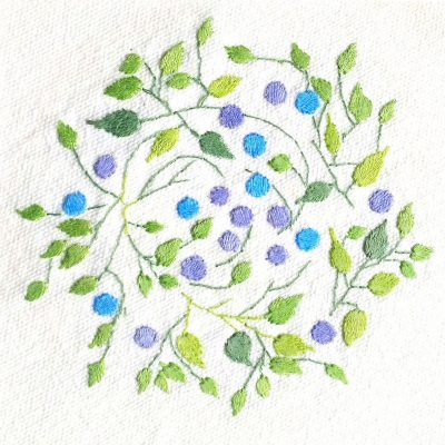 Patricia Van Ness Embroidery: Vines and Fruit #152