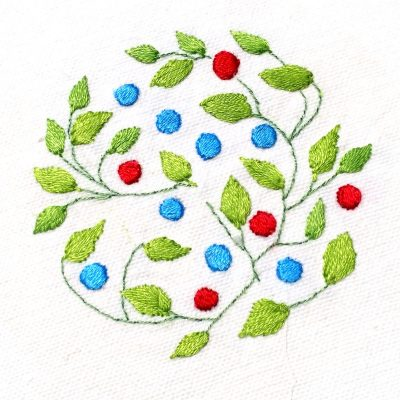 Patricia Van Ness Embroidery: Vines and Fruit #160