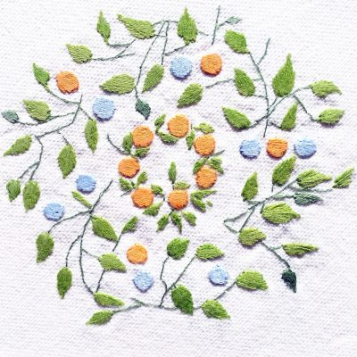 Patricia Van Ness Embroidery: Vines and Wreath #206