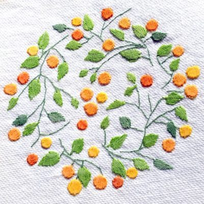 Patricia Van Ness Embroidery: Vines and Fruit #208