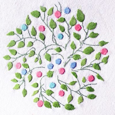 Patricia Van Ness Embroidery: Vines and Fruit #211