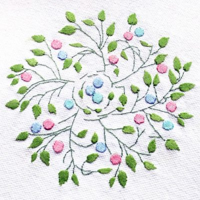 Patricia Van Ness Embroidery: Vines and Fruit #212