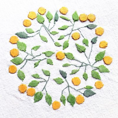Patricia Van Ness Embroidery: Vines and Fruit #218