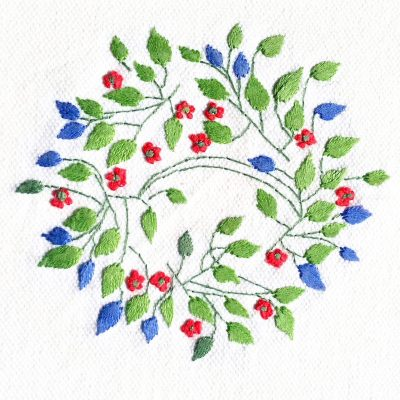 Patricia Van Ness Embroidery: Vines and Fruit #220