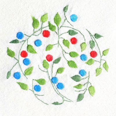 Patricia Van Ness Embroidery: Vines and Fruit #221