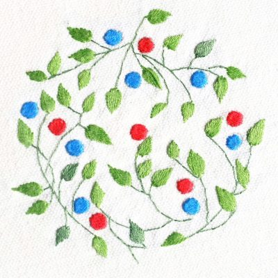 Patricia Van Ness Embroidery: Vines and Fruit #222