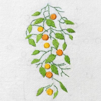 Patricia Van Ness Embroidery: Vines and Fruit #224