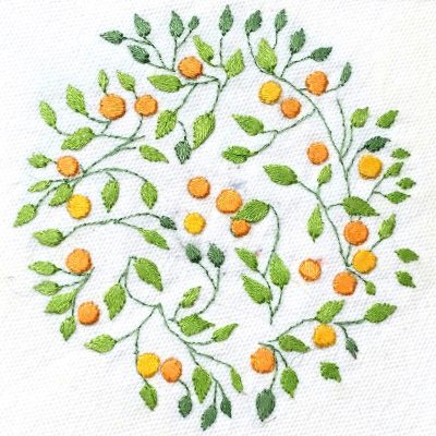Patricia Van Ness Embroidery: Vines and Fruit #226