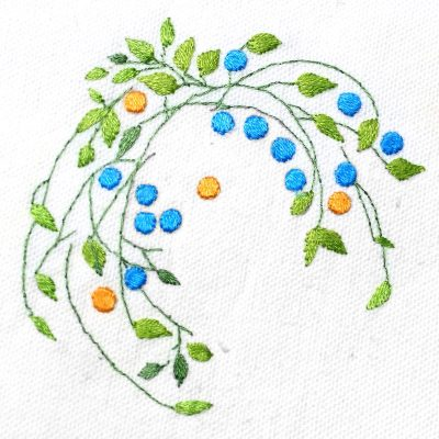 Patricia Van Ness Embroidery: Vines and Fruit #227