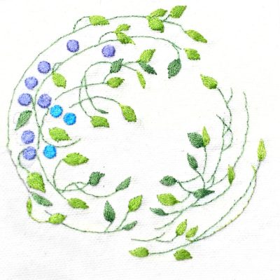 Patricia Van Ness Embroidery: Vines and Fruit #229