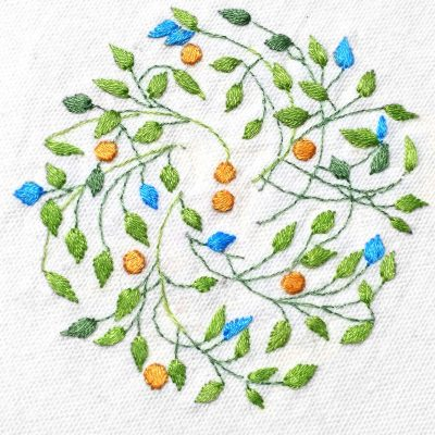 Patricia Van Ness Embroidery: Vines and Fruit #230