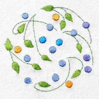 Patricia Van Ness Embroidery: Vines and Fruit #231