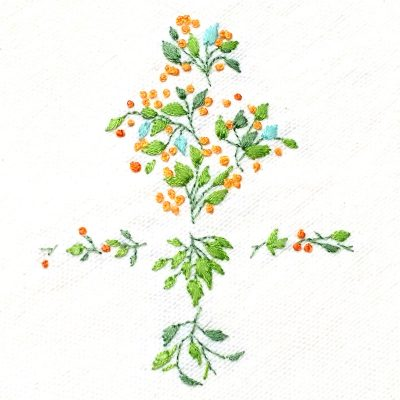 Patricia Van Ness Embroidery: Tiny Vines and Fruit #234