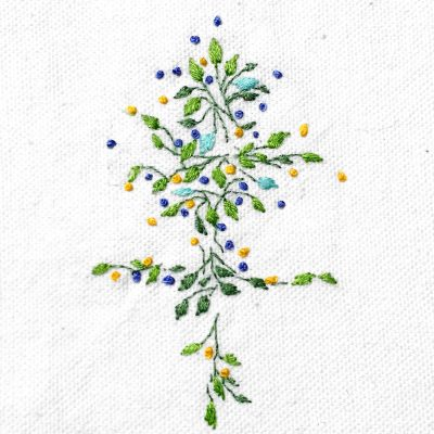 Patricia Van Ness Embroidery: Tiny Vines and Fruit #235