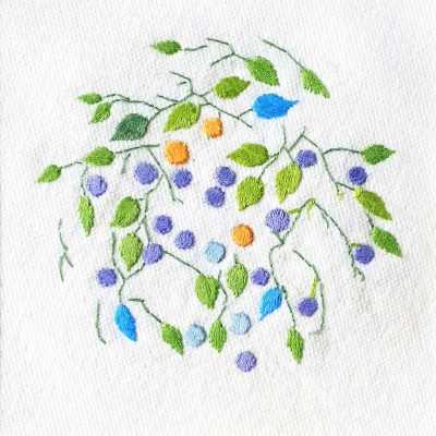 Patricia Van Ness Embroidery: Vines and Fruit #203