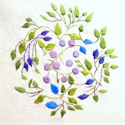 Patricia Van Ness Embroidery: Vines and Fruit #131