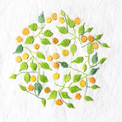 Patricia Van Ness Embroidery: Vines and Fruit #116