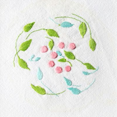 Patricia Van Ness Embroidery: Vines and Fruit #137