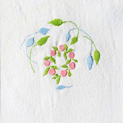 Patricia Van Ness Embroidery: Vines and Wreath #138