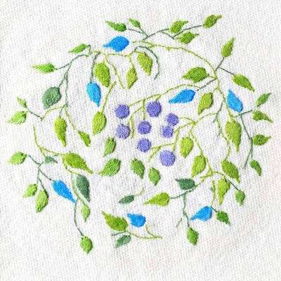 Patricia Van Ness Embroidery: Vines and Fruit #151