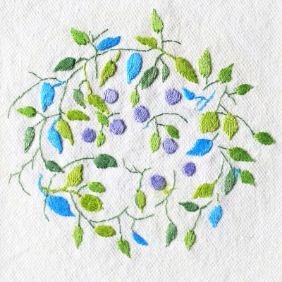 Patricia Van Ness Embroidery: Vines and Fruit #142
