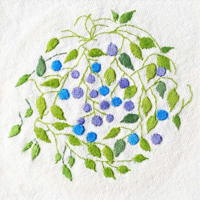 Patricia Van Ness Embroidery: Vines and Fruit #159