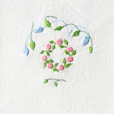 Patricia Van Ness Embroidery: Vines and Wreath #204