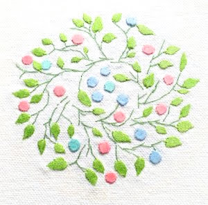 Patricia Van Ness Embroidery: Vines and Fruit #210