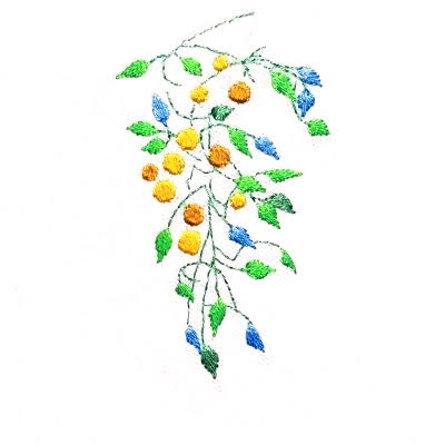 Patricia Van Ness Embroidery: Vines and Fruit #252