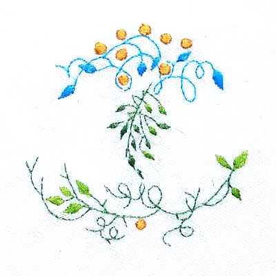 Patricia Van Ness Embroidery: Vines and Fruit #242