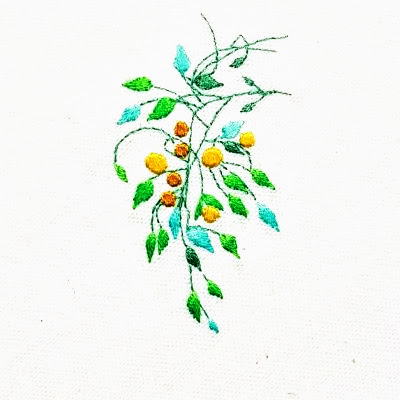 Patricia Van Ness Embroidery: Vines and Fruit #247